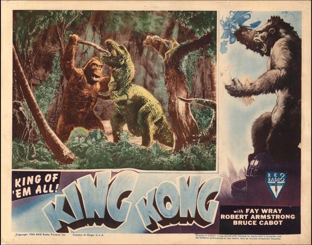 Original king kong movie poster 1933